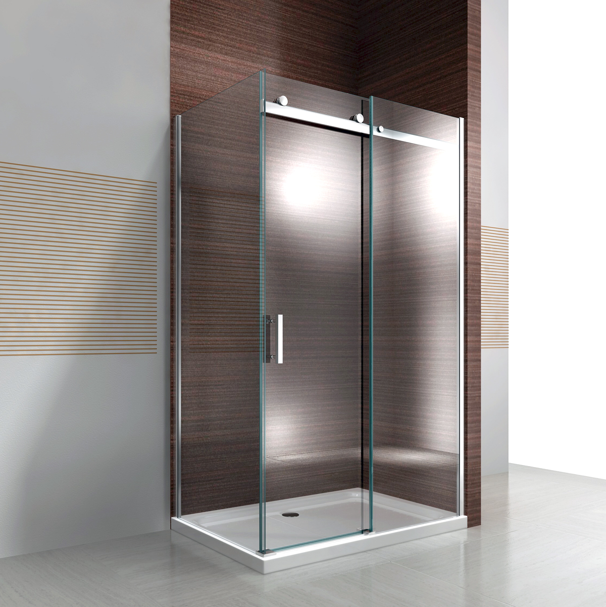cabine de douche cloison de douche porte coulissante nano esg verre v ritable ebay. Black Bedroom Furniture Sets. Home Design Ideas