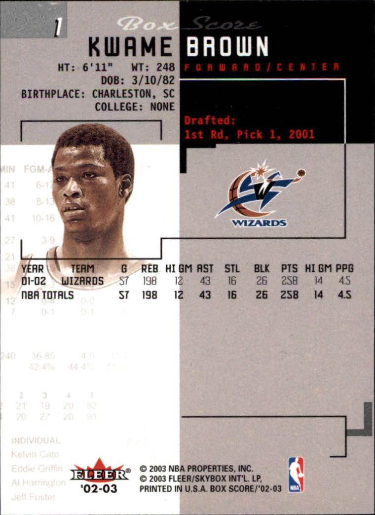2002-03-Fleer-Box-Score-Basketball-Card-Pick thumbnail 3