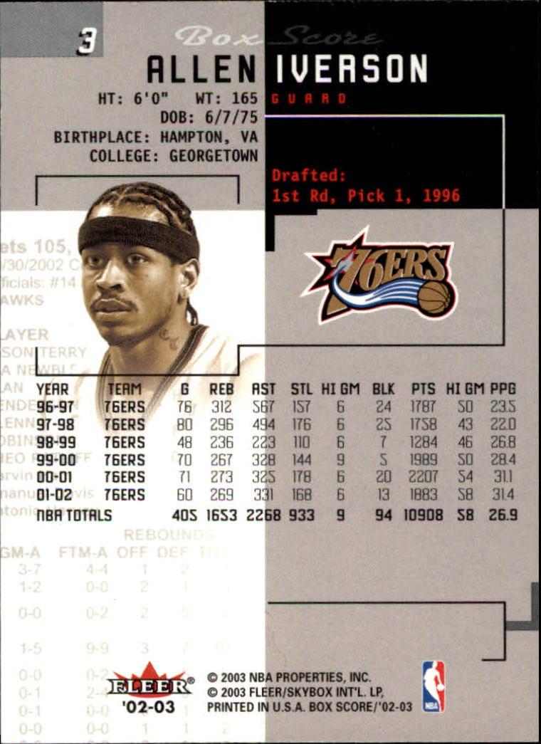 2002-03-Fleer-Box-Score-Basketball-Card-Pick thumbnail 7