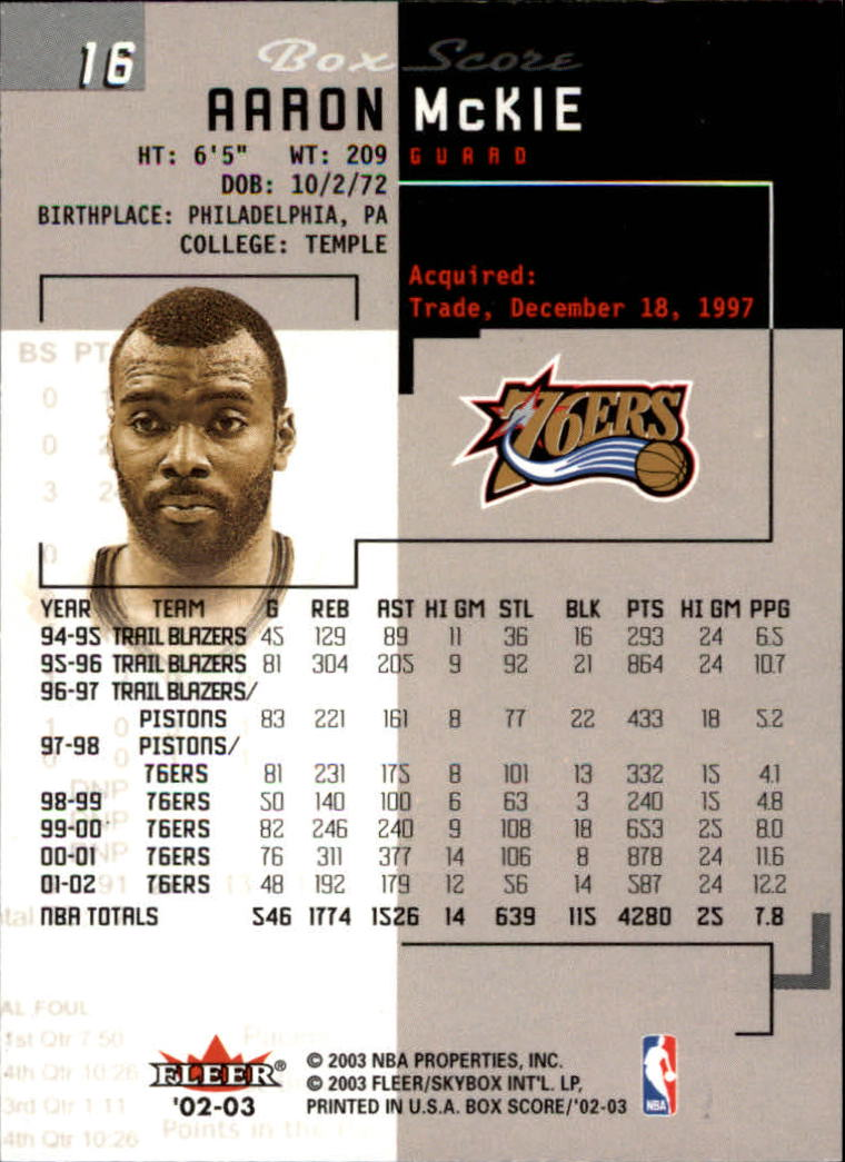 2002-03-Fleer-Box-Score-Basketball-Card-Pick thumbnail 33