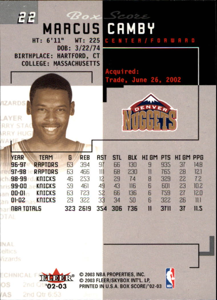 2002-03-Fleer-Box-Score-Basketball-Card-Pick thumbnail 45