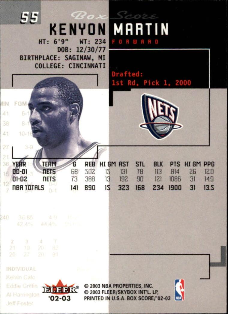2002-03-Fleer-Box-Score-Basketball-Card-Pick thumbnail 109