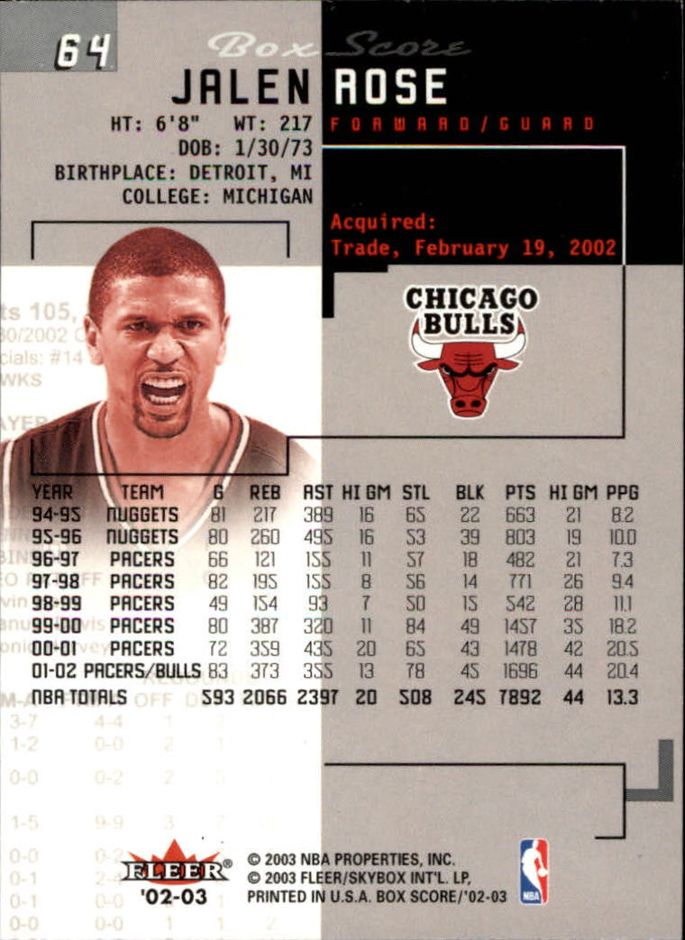 2002-03-Fleer-Box-Score-Basketball-Card-Pick thumbnail 127