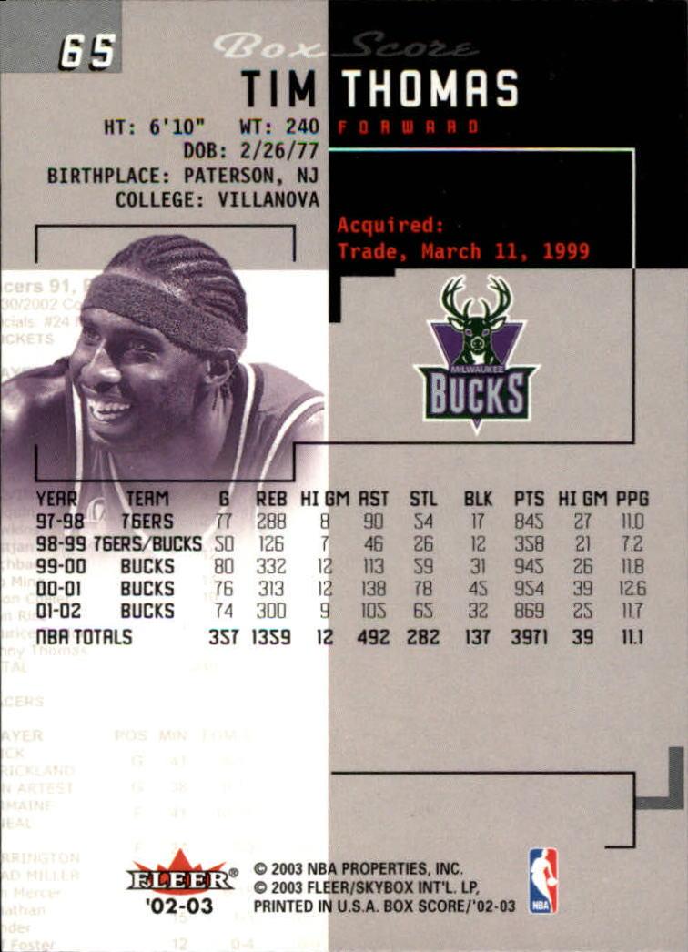 2002-03-Fleer-Box-Score-Basketball-Card-Pick thumbnail 129