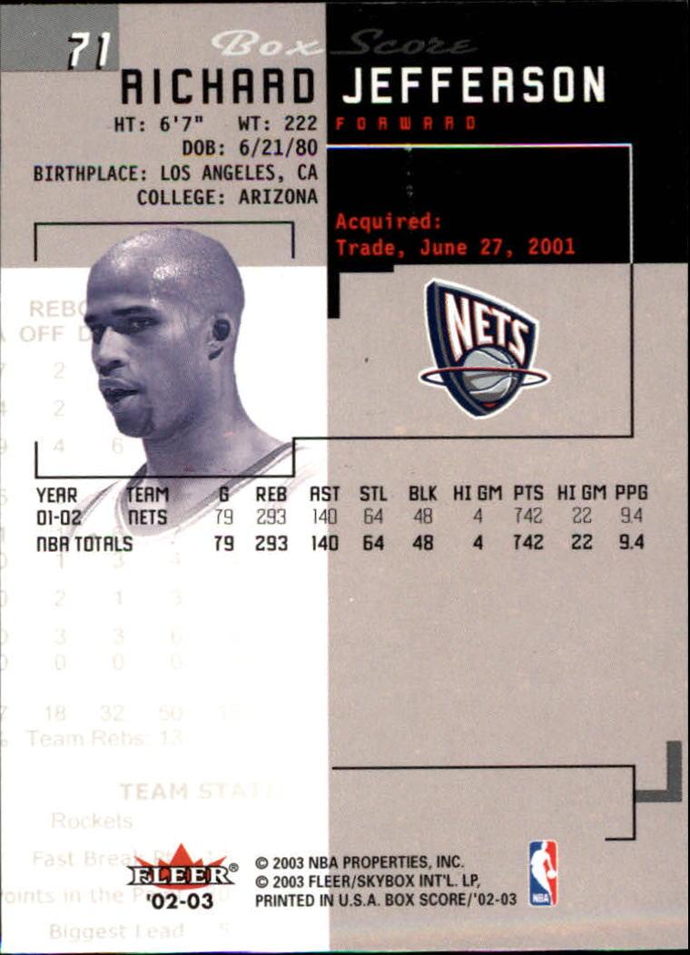 2002-03-Fleer-Box-Score-Basketball-Card-Pick thumbnail 141