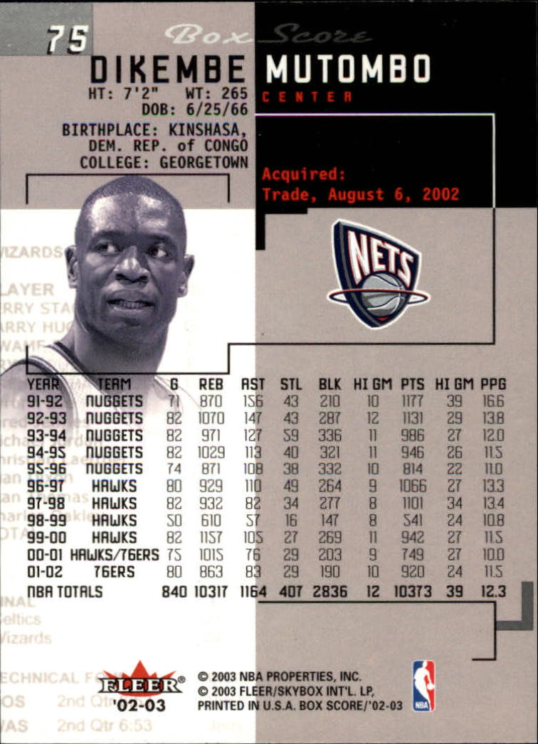 2002-03-Fleer-Box-Score-Basketball-Card-Pick thumbnail 149