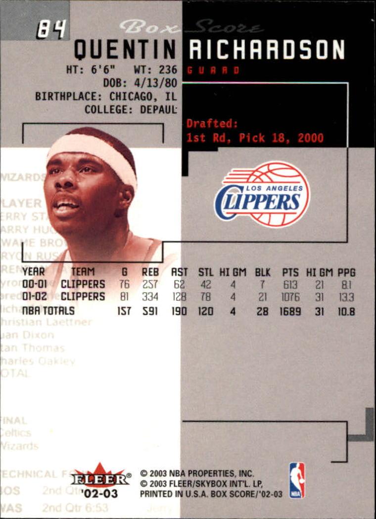 2002-03-Fleer-Box-Score-Basketball-Card-Pick thumbnail 167