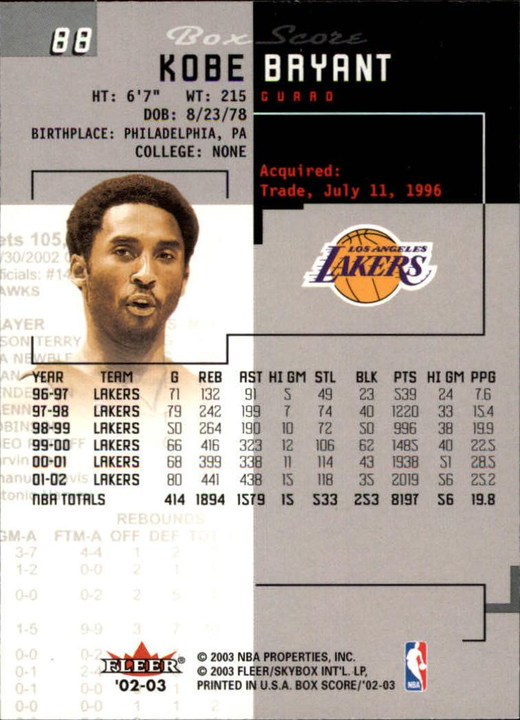 2002-03-Fleer-Box-Score-Basketball-Card-Pick thumbnail 175