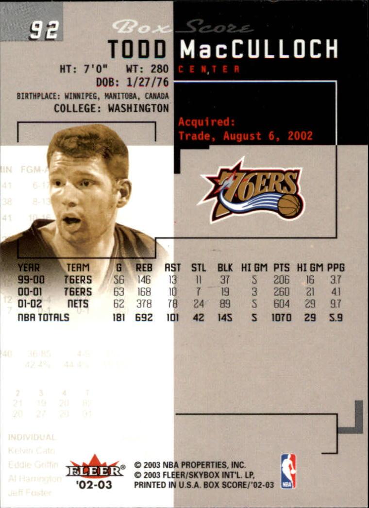 2002-03-Fleer-Box-Score-Basketball-Card-Pick thumbnail 183