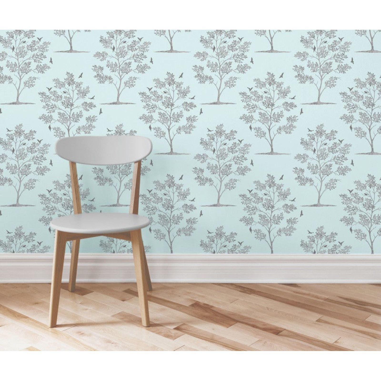 oeufs de canard bleu papier peint bleu sarcelle hibou oiseau paon rouleau ebay. Black Bedroom Furniture Sets. Home Design Ideas