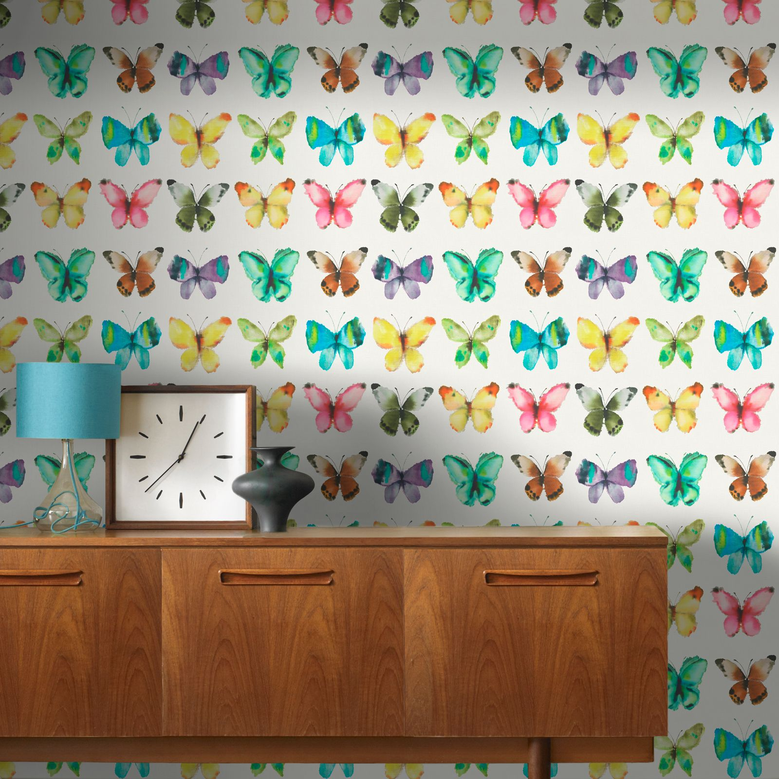 Schmetterling Tapete Mädchen Schlafzimmer Dekor Rosa Weiß