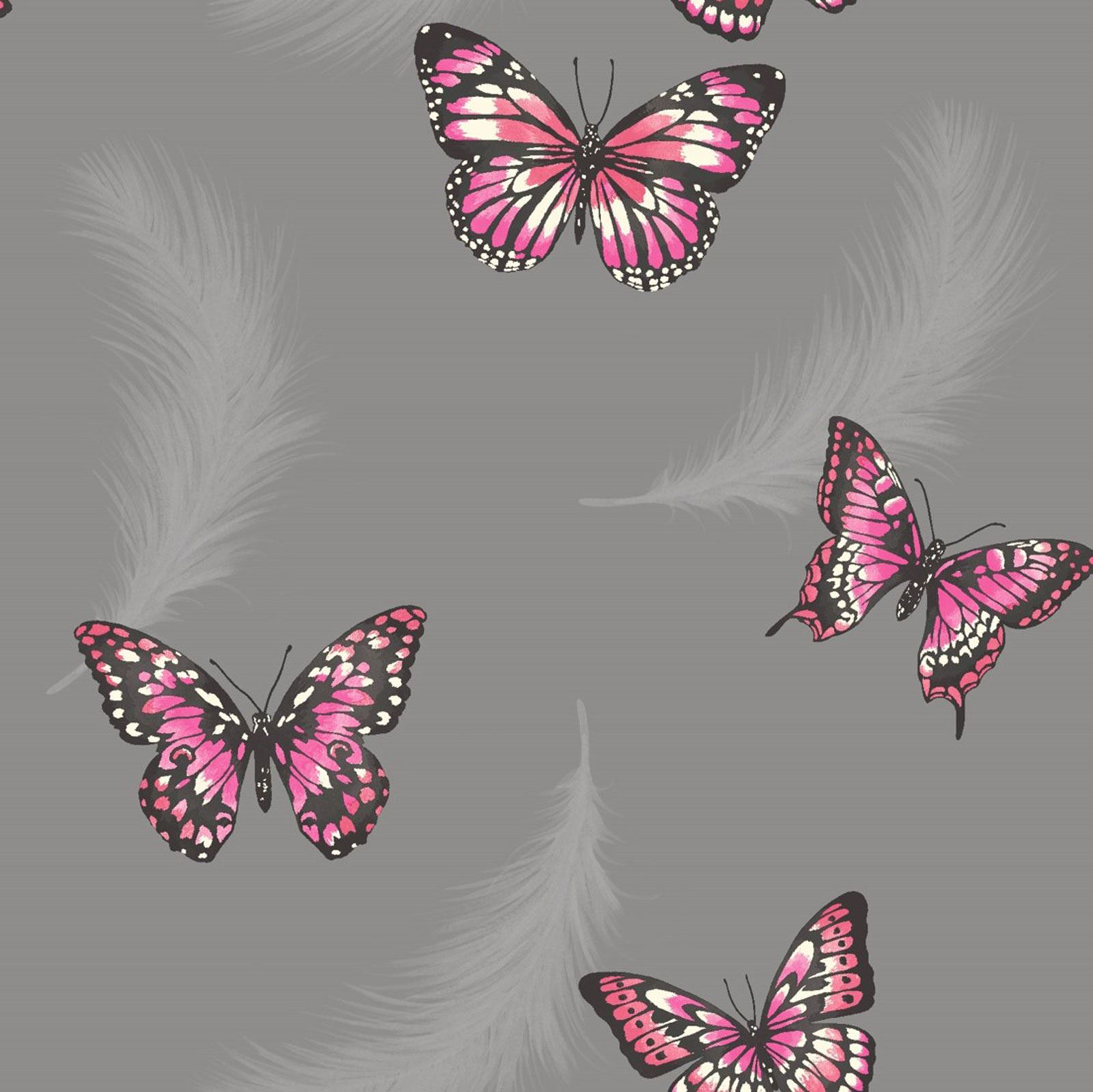 Pink And Grey Girls Bedroom Girls Bedroom Butterfly Wallpaper In Pink White Teal More New
