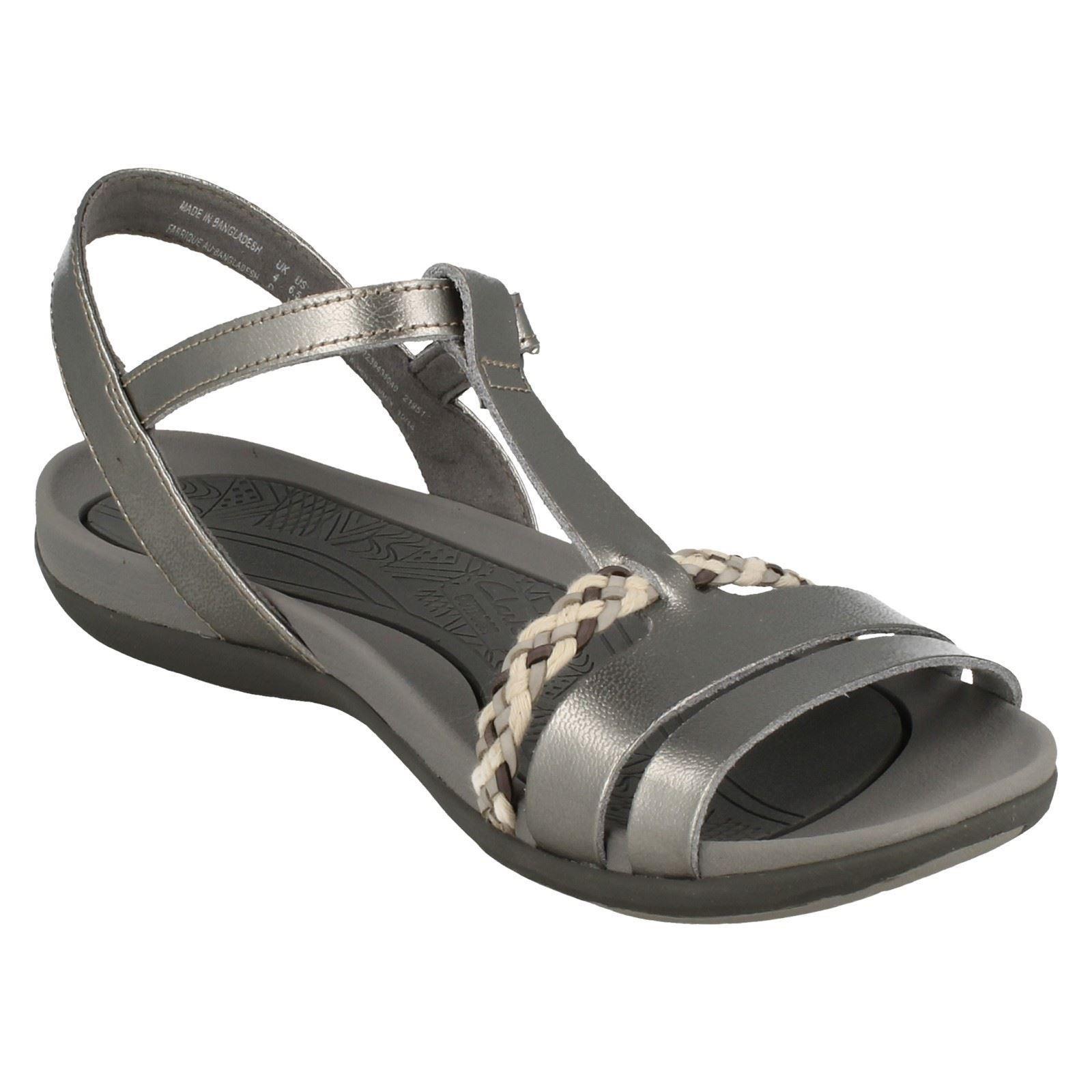 284c506316a14 Ladies Clarks Casual Summer Sandals Tealite Grace Silver D UK 6.5 ...