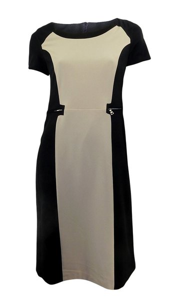 Ex-Marks-amp-Spencer-Elegante-Reductor-Central-Panel-Vestido-con-Cuello-En-U-3
