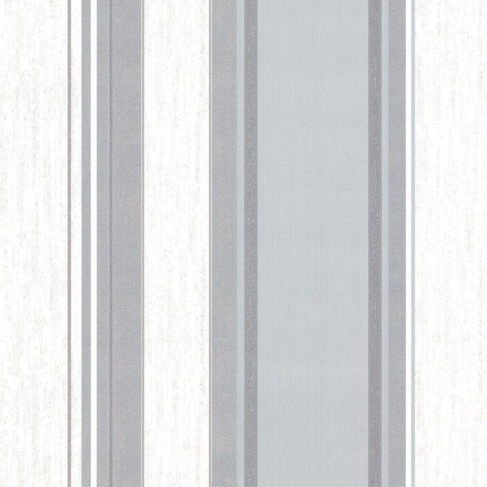 Vymura synergie tauben grau wei silber glitzer tapete for Blumenmuster tapete