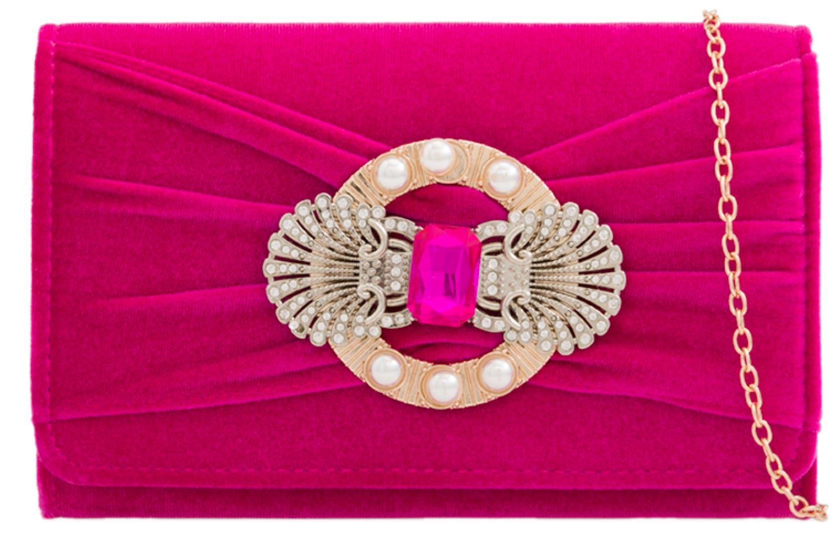 Vintage para dama terciopelo Bolso de mano piedras preciosas pin ...