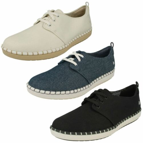 Ladies Clarks Casual Lace Up Trainers 'Step Glow Lace'