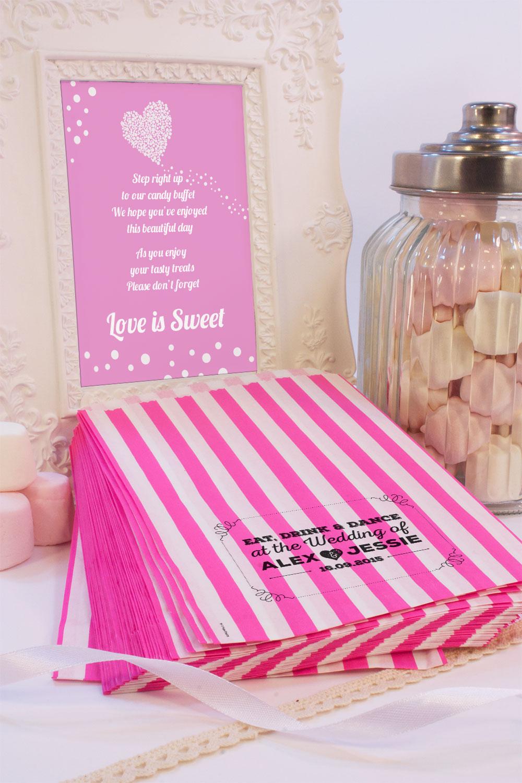 personnalis mariage sacs bonbon vintage r tro shabby bonbons cadeaux mariage ebay. Black Bedroom Furniture Sets. Home Design Ideas
