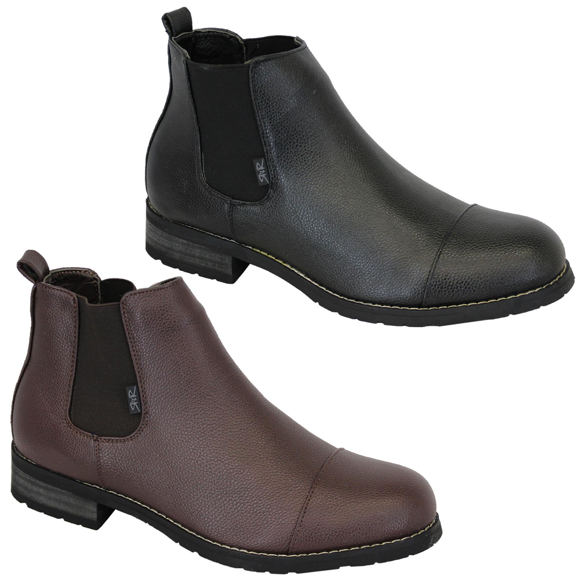 Hombre-Botines-Rock-amp-Religion-DEALER-Alto-Tobillo-Piel-Sintetica-Zapatos-Diseno