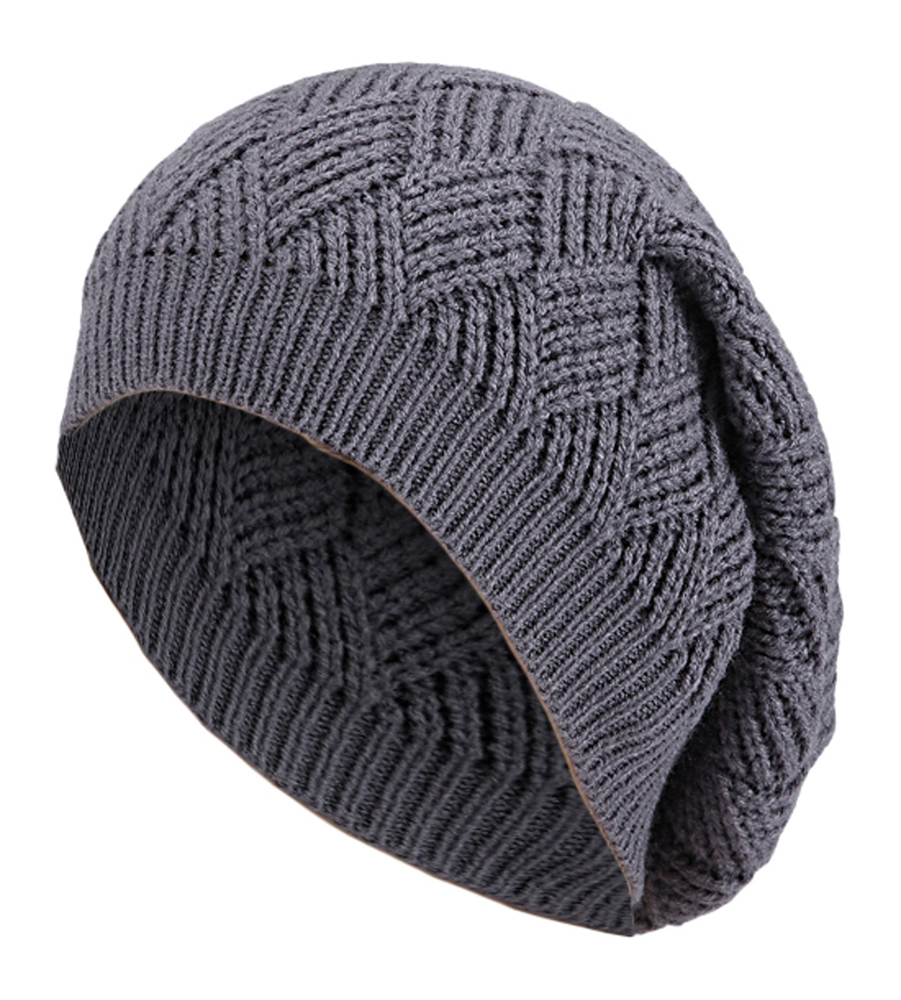 Unisex Knitted cap Pattern long Beanie Winter long Slouch Hat eBay