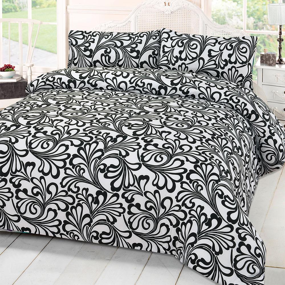 Damas-imprime-couette-Housse-de-couette-avec-taie-d-039-oreiller