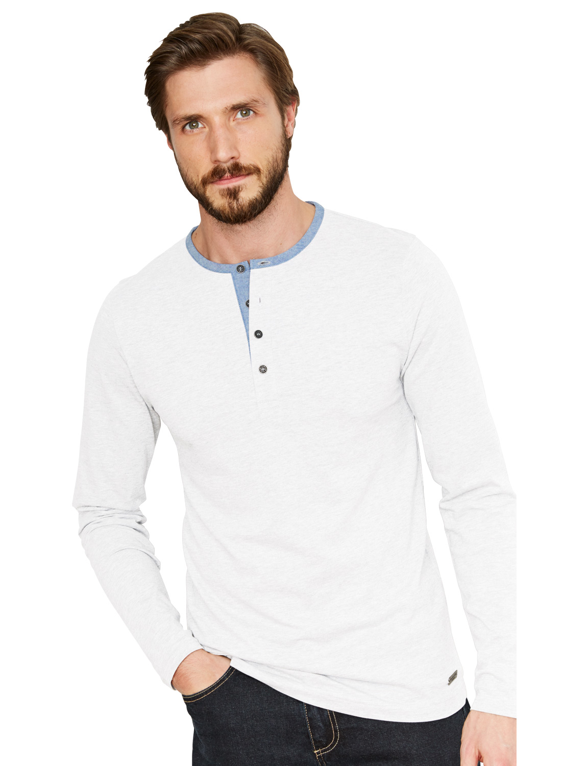 Mens Brave Soul Long Sleeve Cotton Top White S | eBay