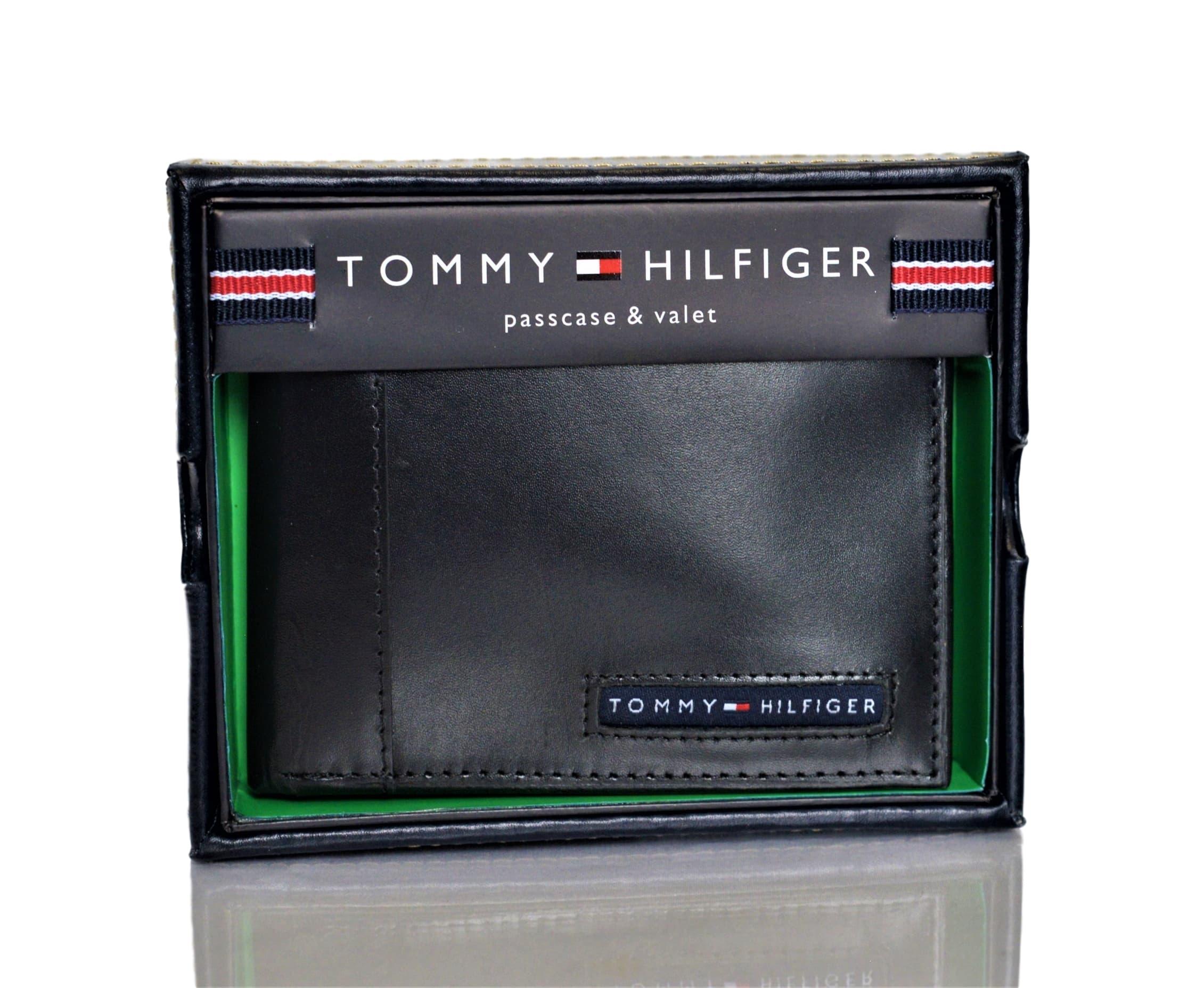 Détails sur Tommy Hilfiger Hommes Cuir Cambridge Porte Cartes Portefeuille avec Amovible