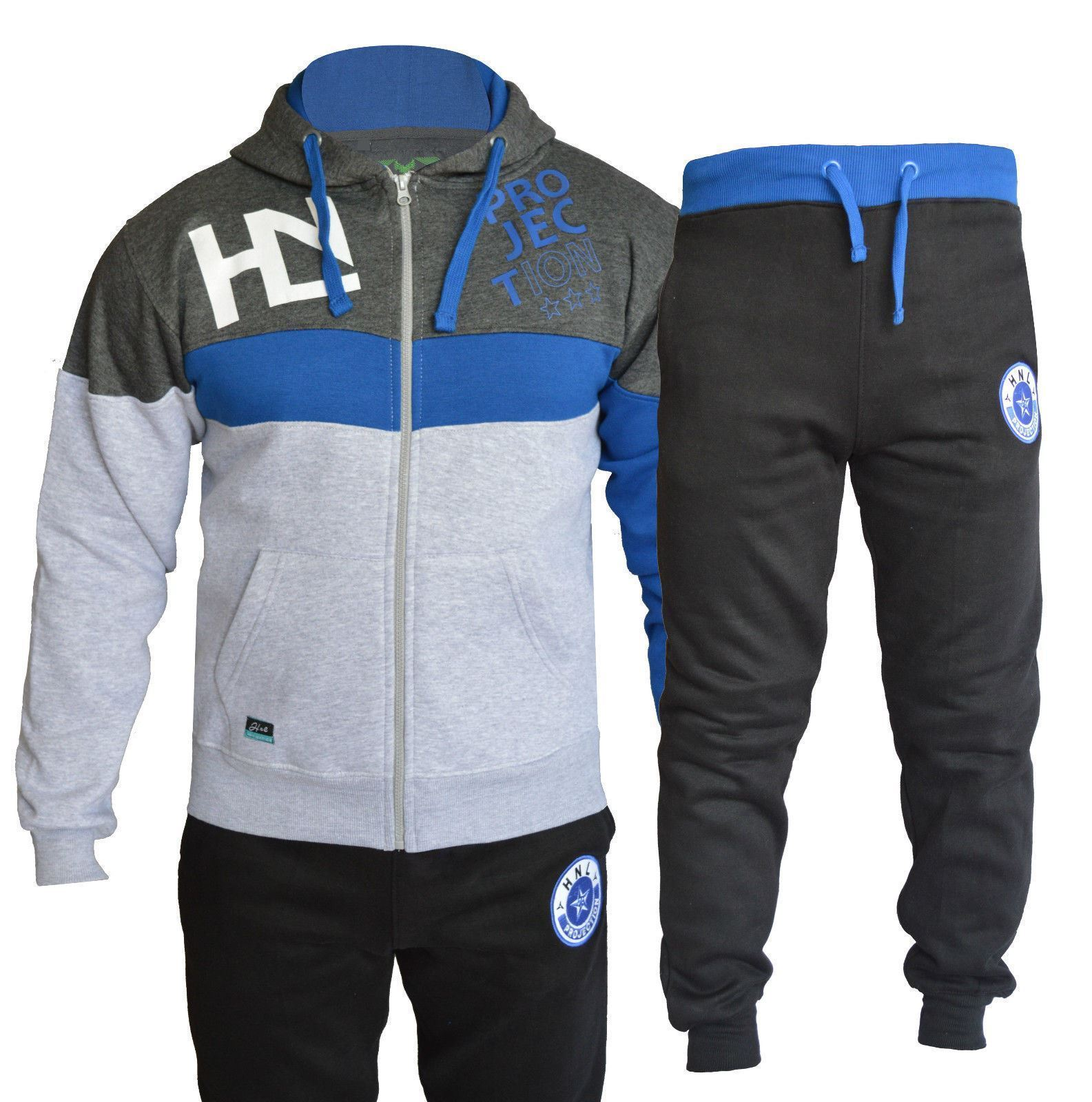 A2Z 4 Kids/® Kids Boys Girls Tracksuit HNL Projection Print Black /& Blue Hoodie /& Bottom Jogging Suit Joggers New Age 7 8 9 10 11 12 13 Years