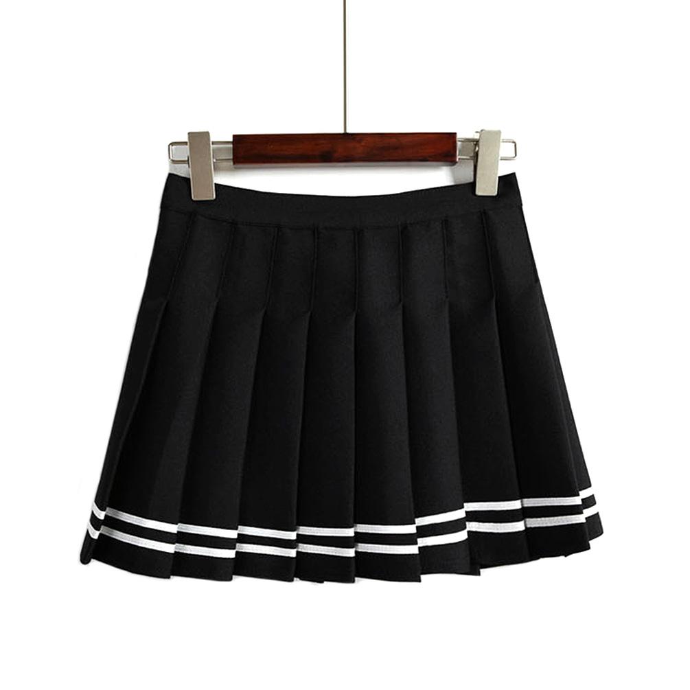 Mujer Niña De Rayas Plisado Mini Faldas Talle Alto Tenis Faldas Moda Nueva 1 Pza