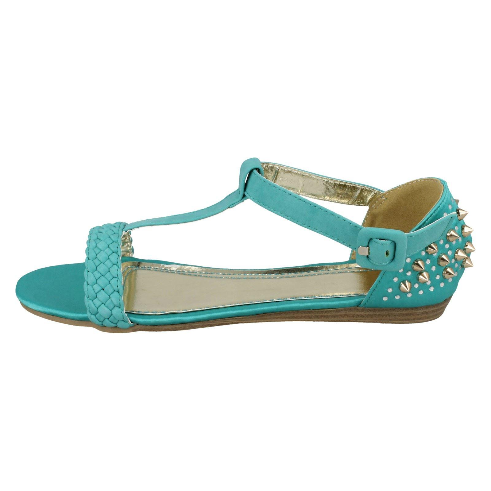 Ladies-Spot-On-Plaited-Vamp-039-Sandal-039