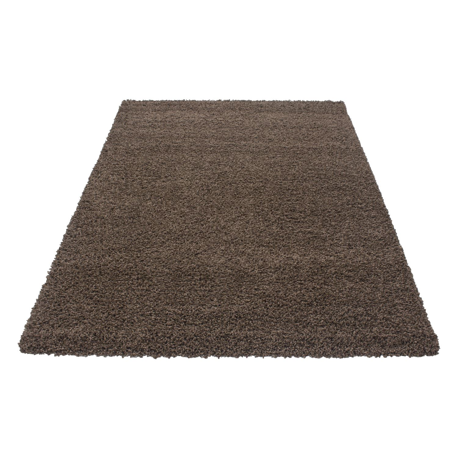 5cm Thick Soft Touch Shaggy Shag Pile Rugs Round Runner