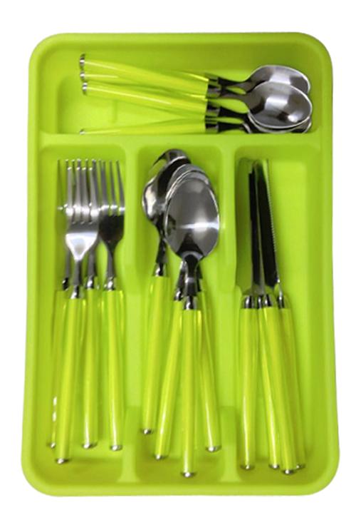 25pz pezzi acciaio inox set posate cucina da pranzo - Articoli per cucina ...
