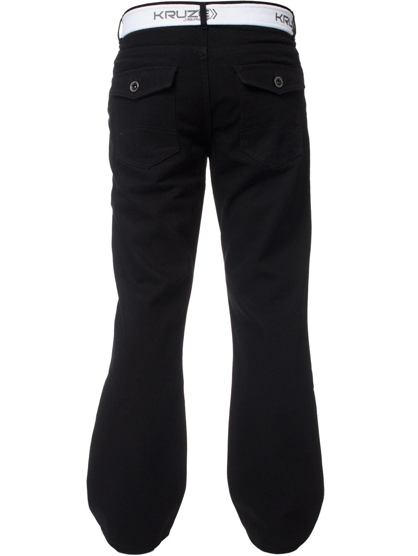 Kruze-Herren-Bootcut-Jeans-Ausgestellt-Weites-Bein-Denim-Hose-Gross-Hoch-Koenig Indexbild 25