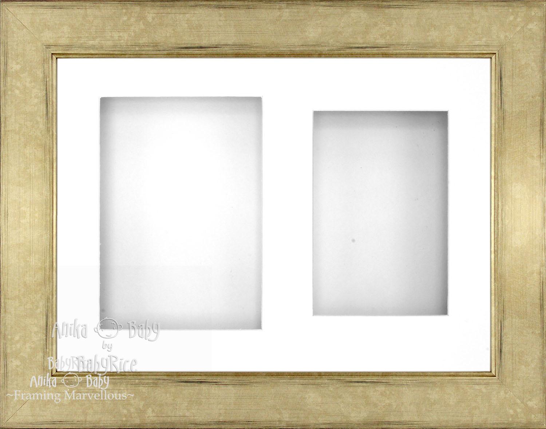 21-6cm-X-29-2cm-Champan-Profundo-Shadow-Caja-Marco-de-Fotos-Pantalla-Blanca