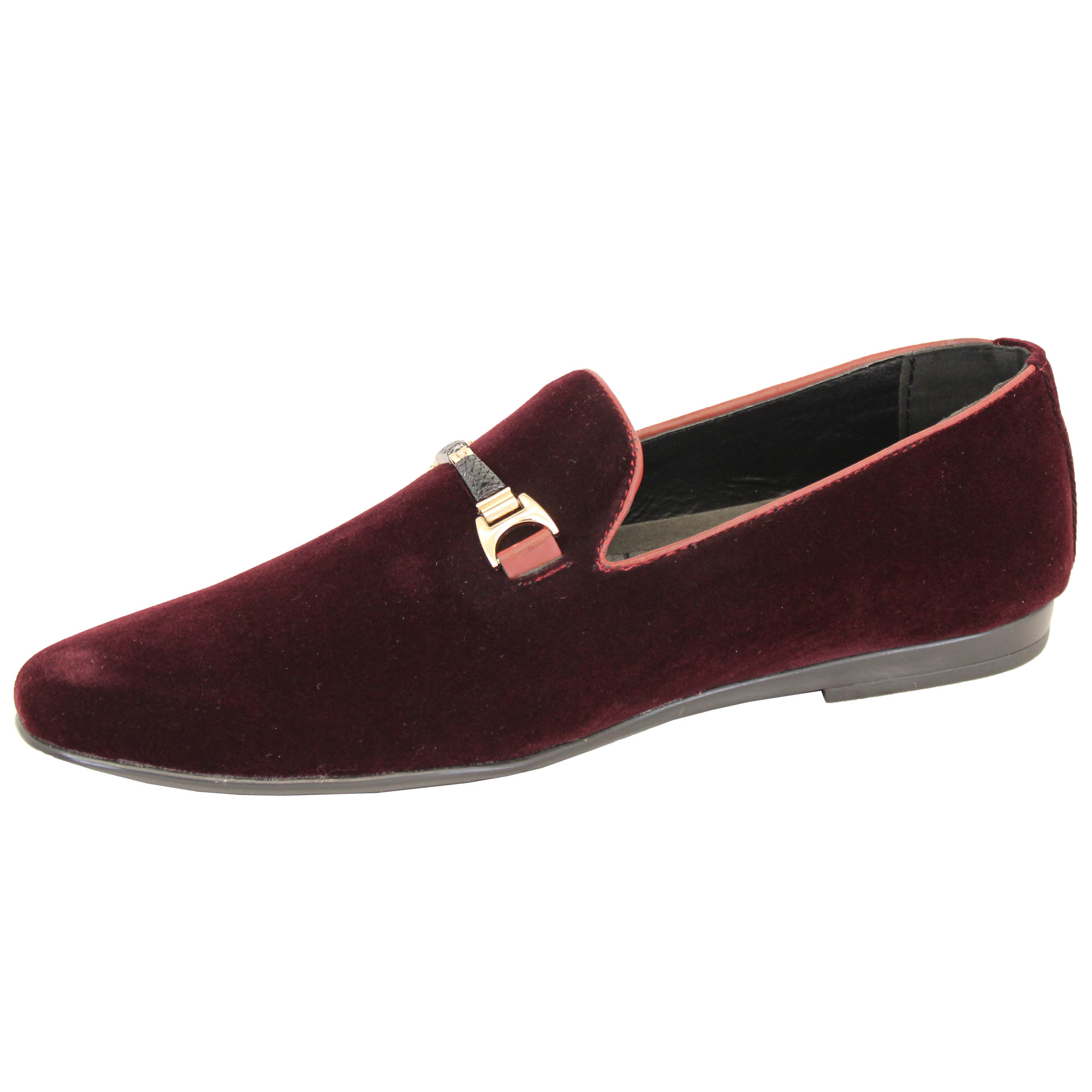 a08fa00484 Mens Slip On Italian Shoes Designer Loafers Suede Look Moccasin ...