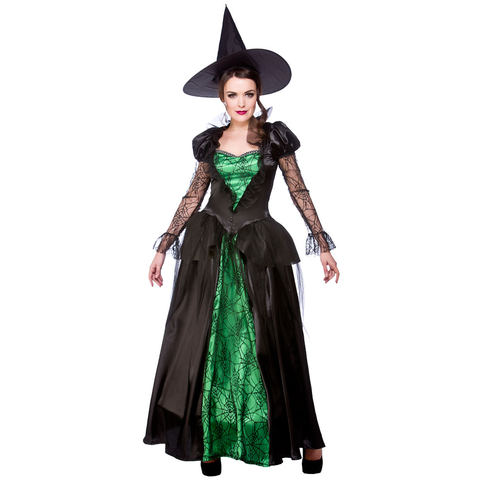 green witch costume ladies emerald witches halloween fancy - Green Halloween Dress