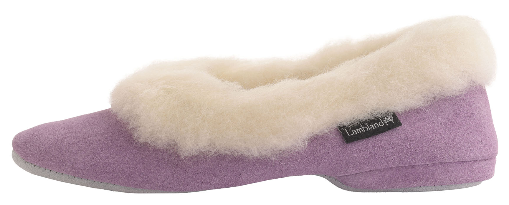 Ladies Sheepskin Scuff Slippers with Hard Suede Sole UK Made by Lambland