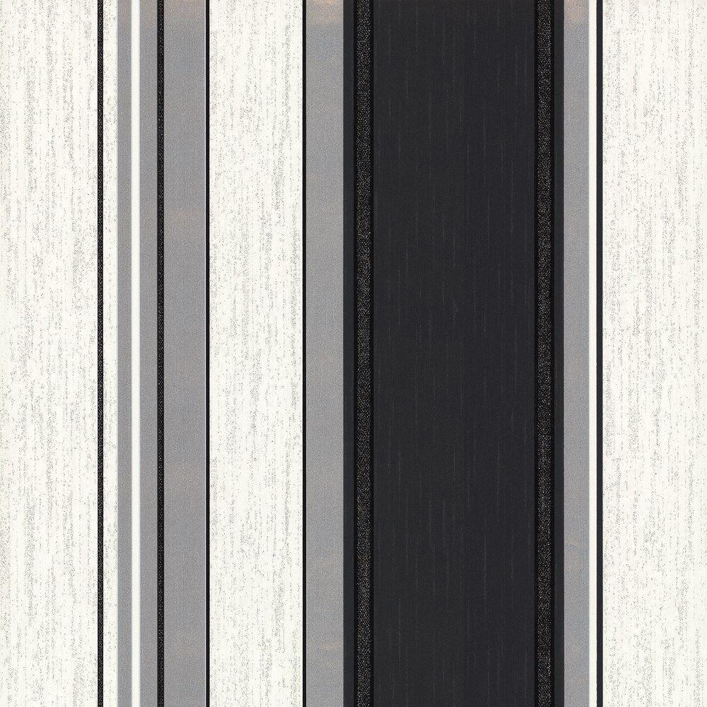 Vymura synergie ebenholz schwarz wei silber glitzer tapete streifen ebay - Tapeten schwarz weiay silber ...