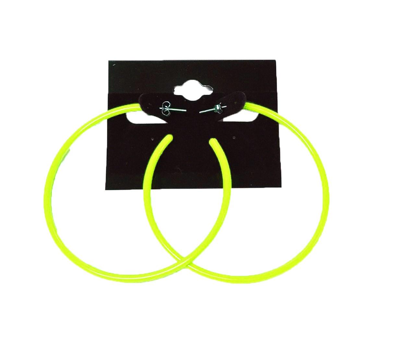 neon creolen 1980er jahre kost m zubeh r 80er jahre party viele farben ebay. Black Bedroom Furniture Sets. Home Design Ideas