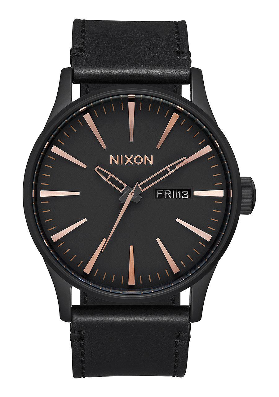 Nixon-Sentry-Leather-primavera-2017-All-Black-Rose-Gold
