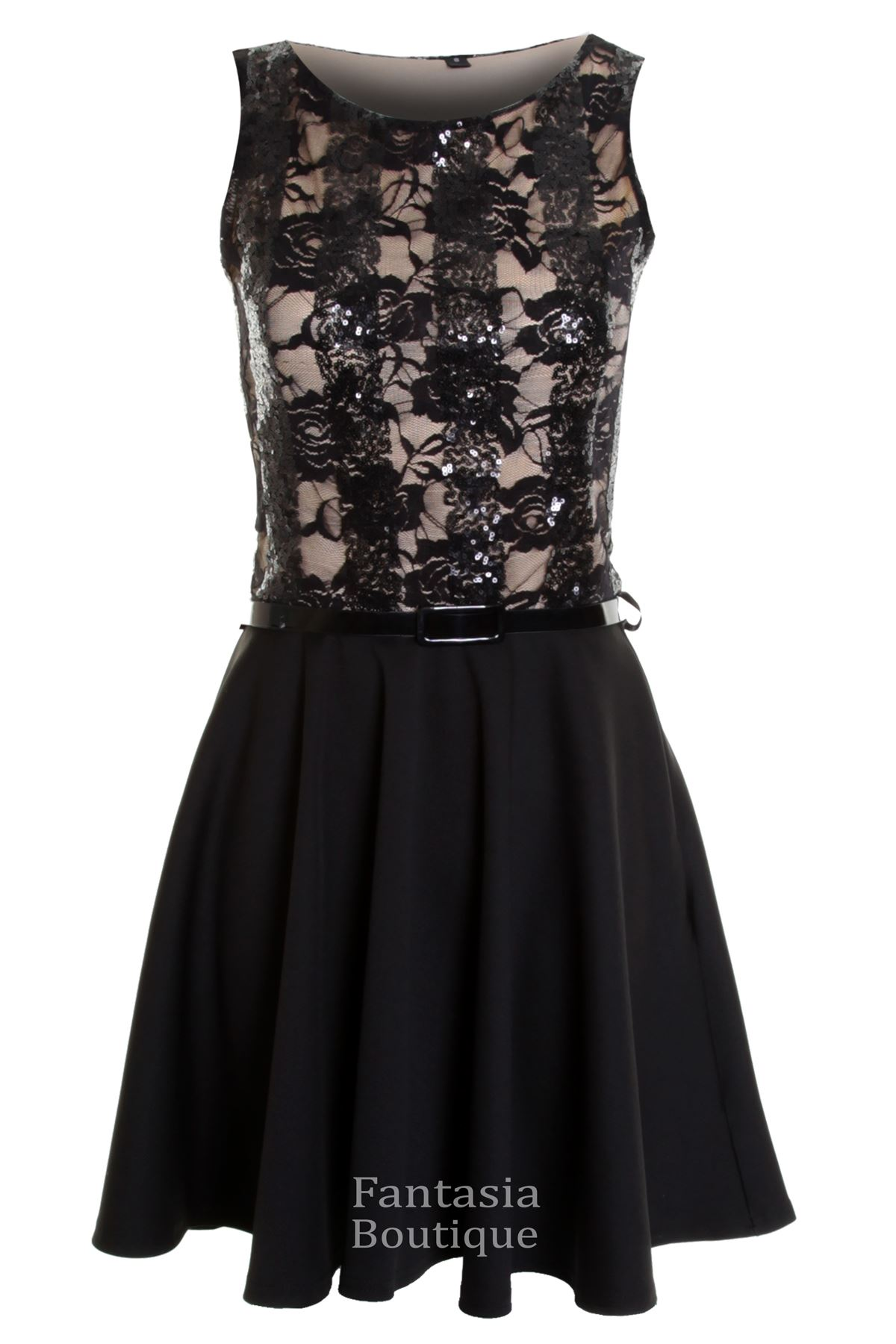 280a351e8d ... Lined Floral Lace Women s Skater Dress Sequins US 4. About this  product. Picture 1 of 3  Picture 2 of 3 ...