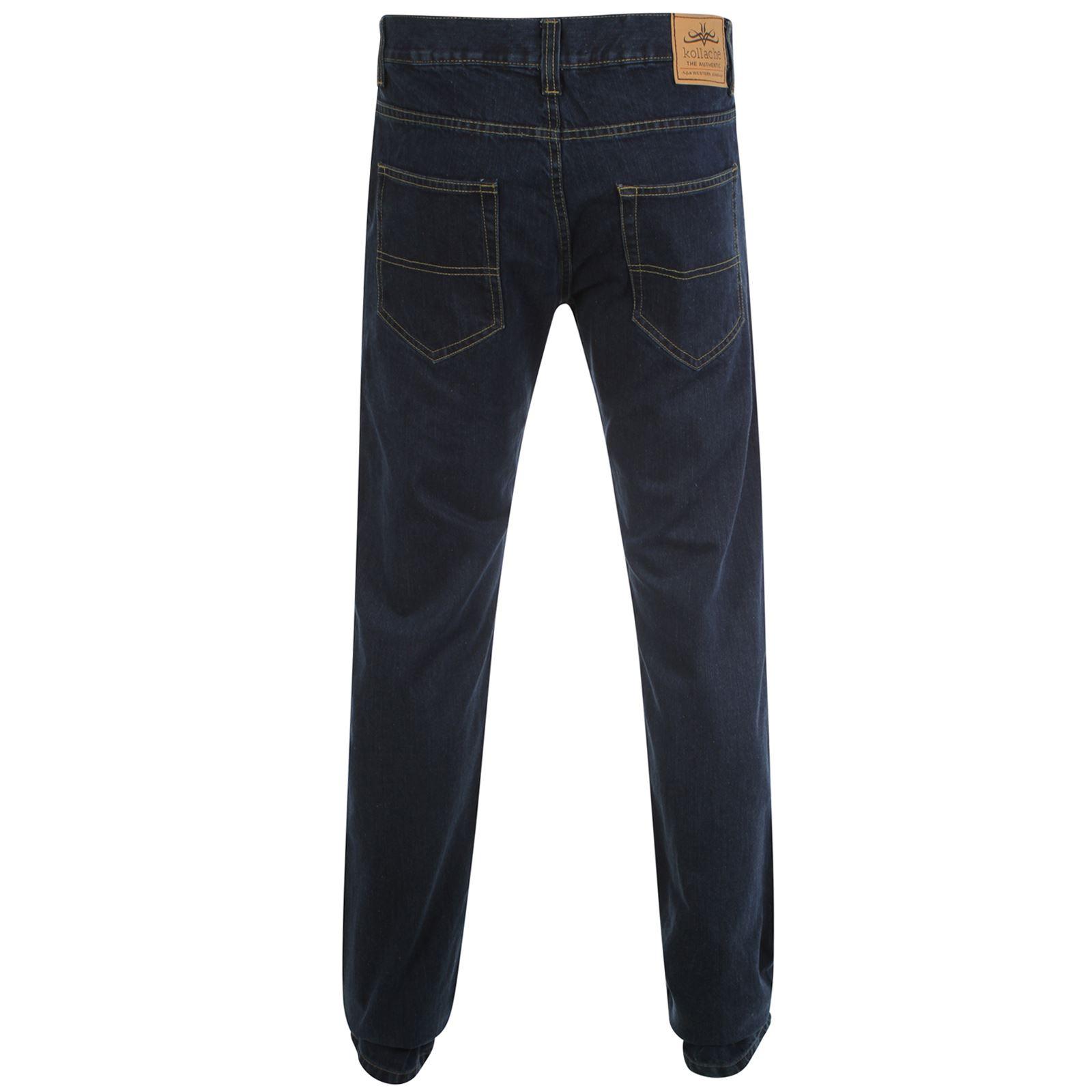 Hombre-pernera-recta-Corte-Normal-Vaquero-Casual-de-algodon-pantalones