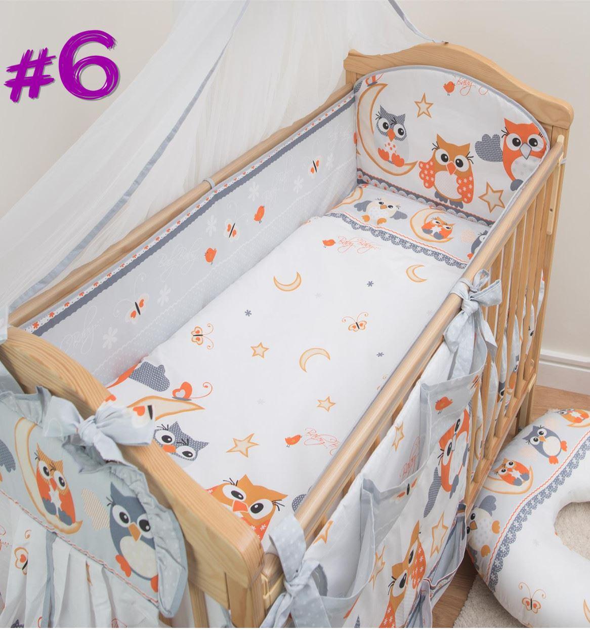 luxuri s 3 teile kinderzimmer baby bettw sche set gitterbett kinderbett lang ebay. Black Bedroom Furniture Sets. Home Design Ideas