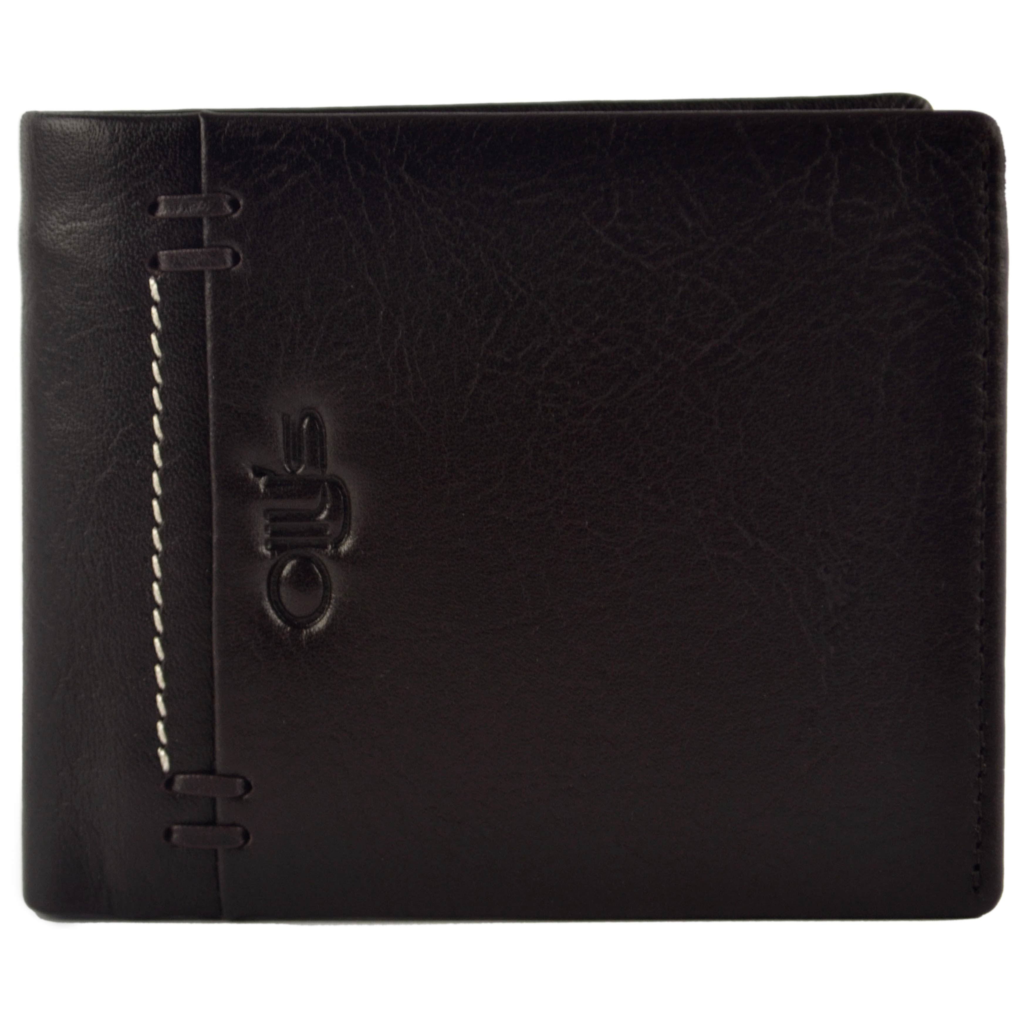thumbnail 8 - Mens-Fine-Grain-Classic-Leather-Wallet-by-Olly-039-s-Wilson-Collection-Gift-Box