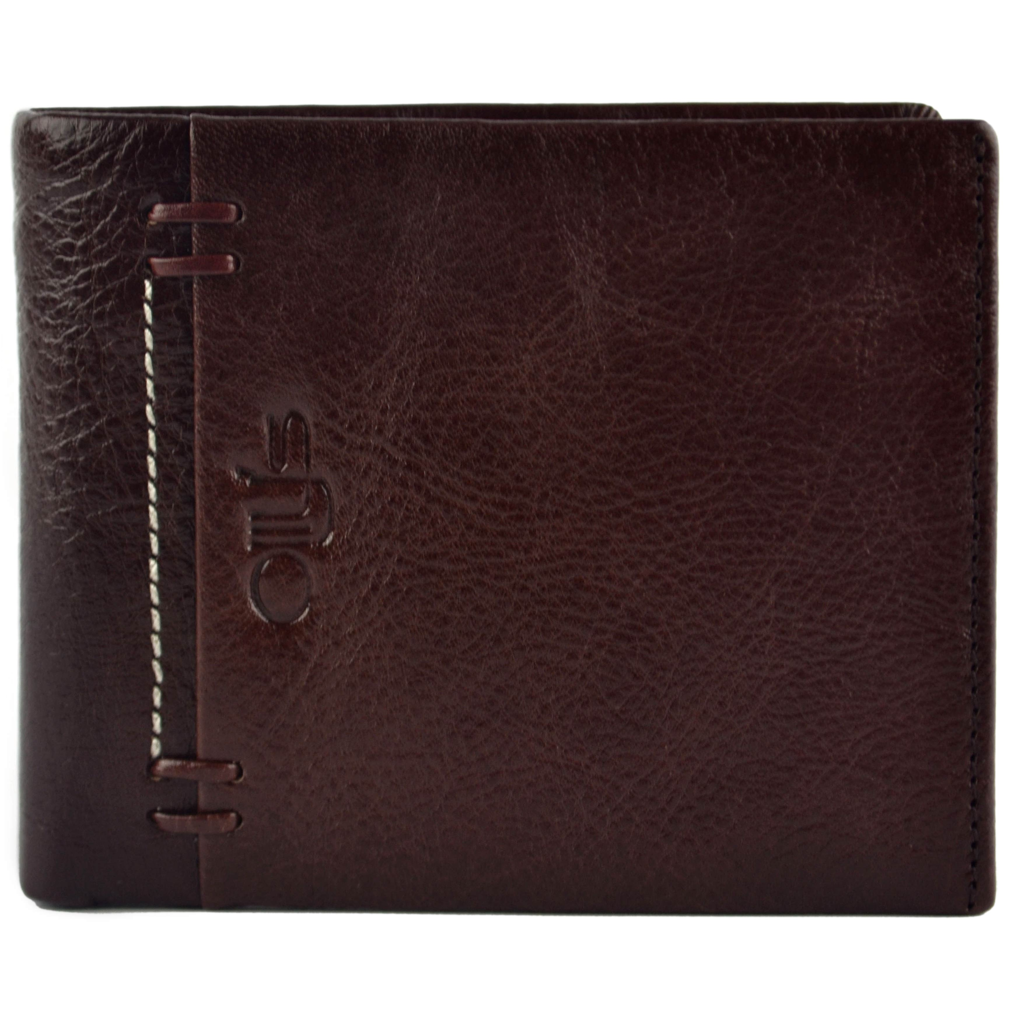 thumbnail 12 - Mens-Fine-Grain-Classic-Leather-Wallet-by-Olly-039-s-Wilson-Collection-Gift-Box