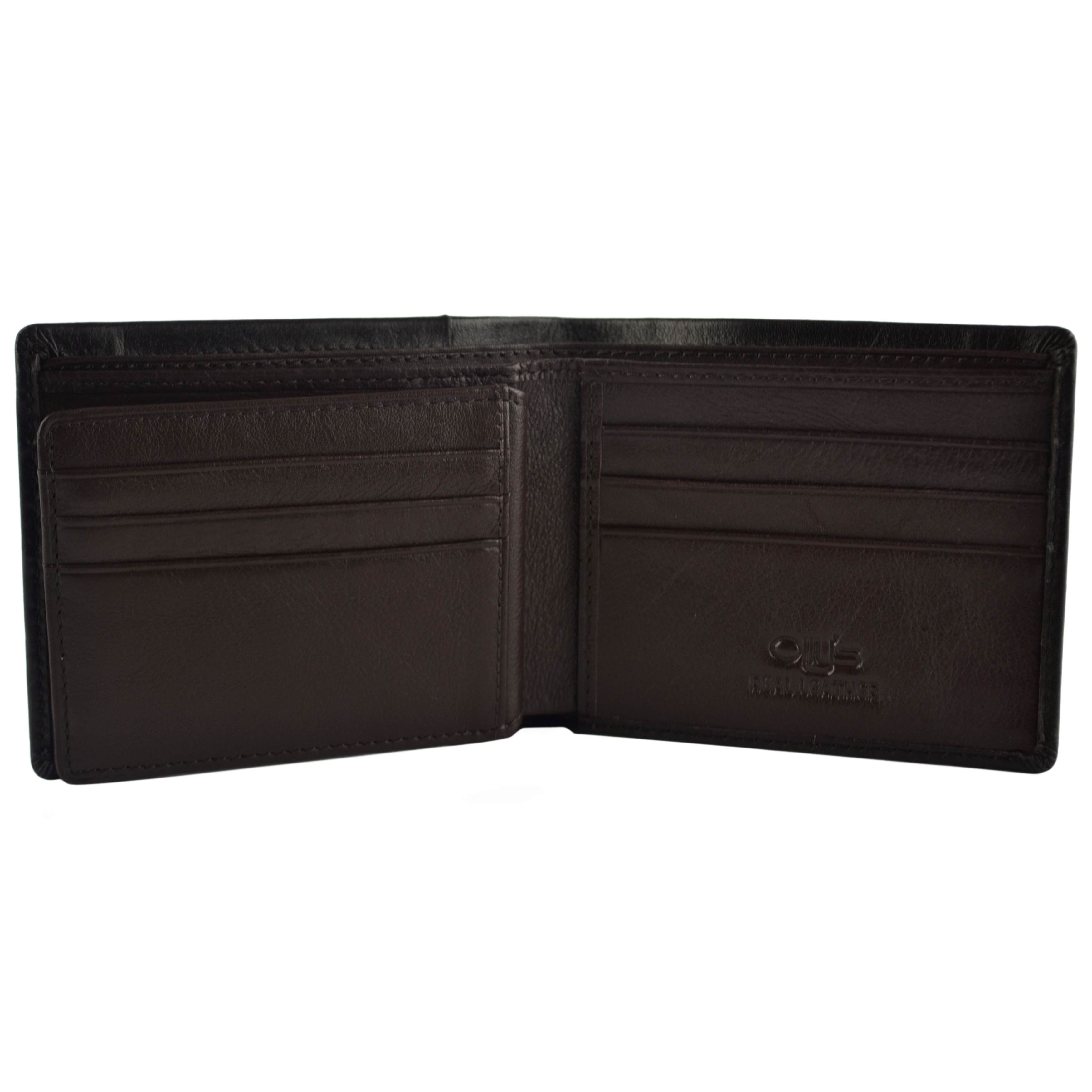 thumbnail 9 - Mens-Fine-Grain-Classic-Leather-Wallet-by-Olly-039-s-Wilson-Collection-Gift-Box