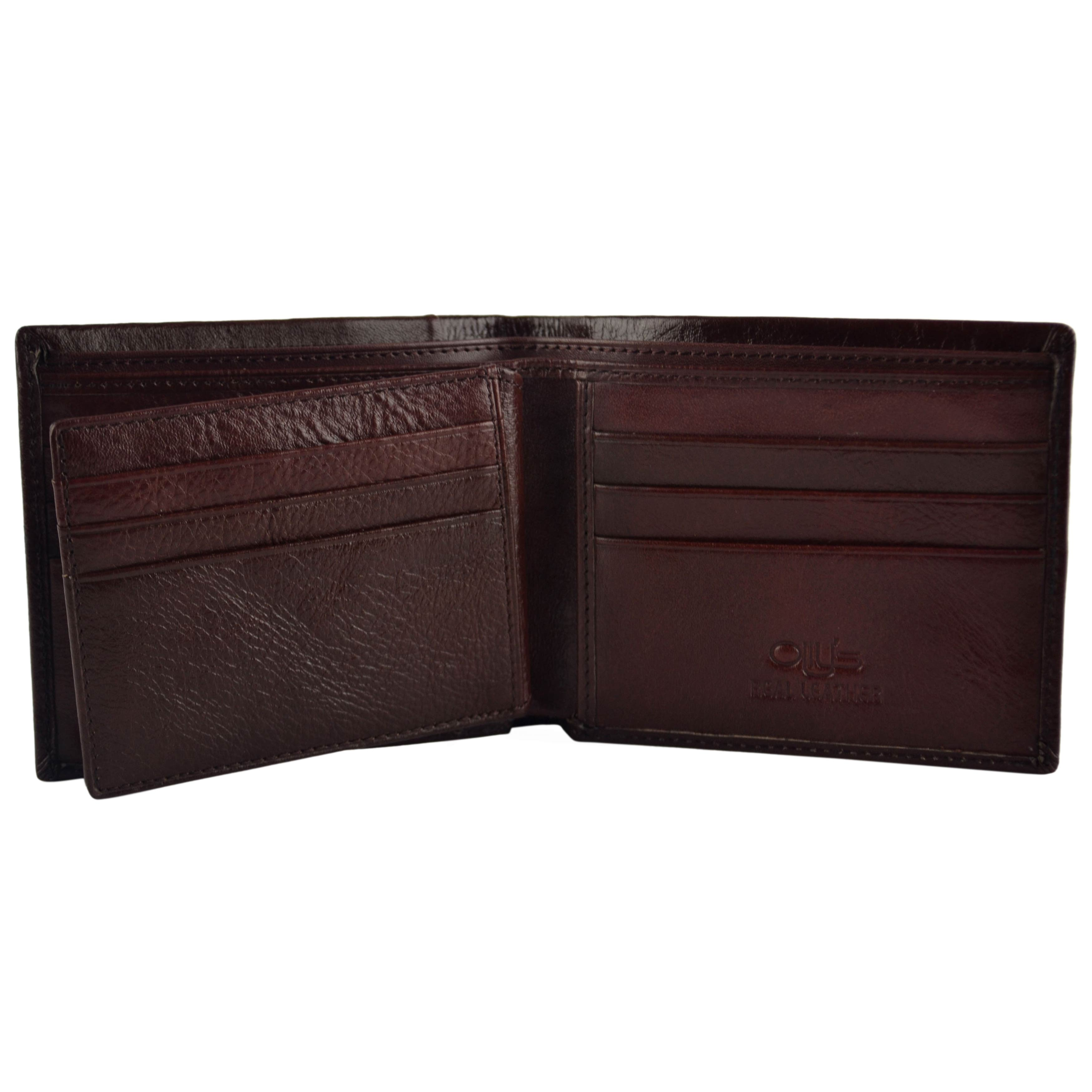 thumbnail 13 - Mens-Fine-Grain-Classic-Leather-Wallet-by-Olly-039-s-Wilson-Collection-Gift-Box