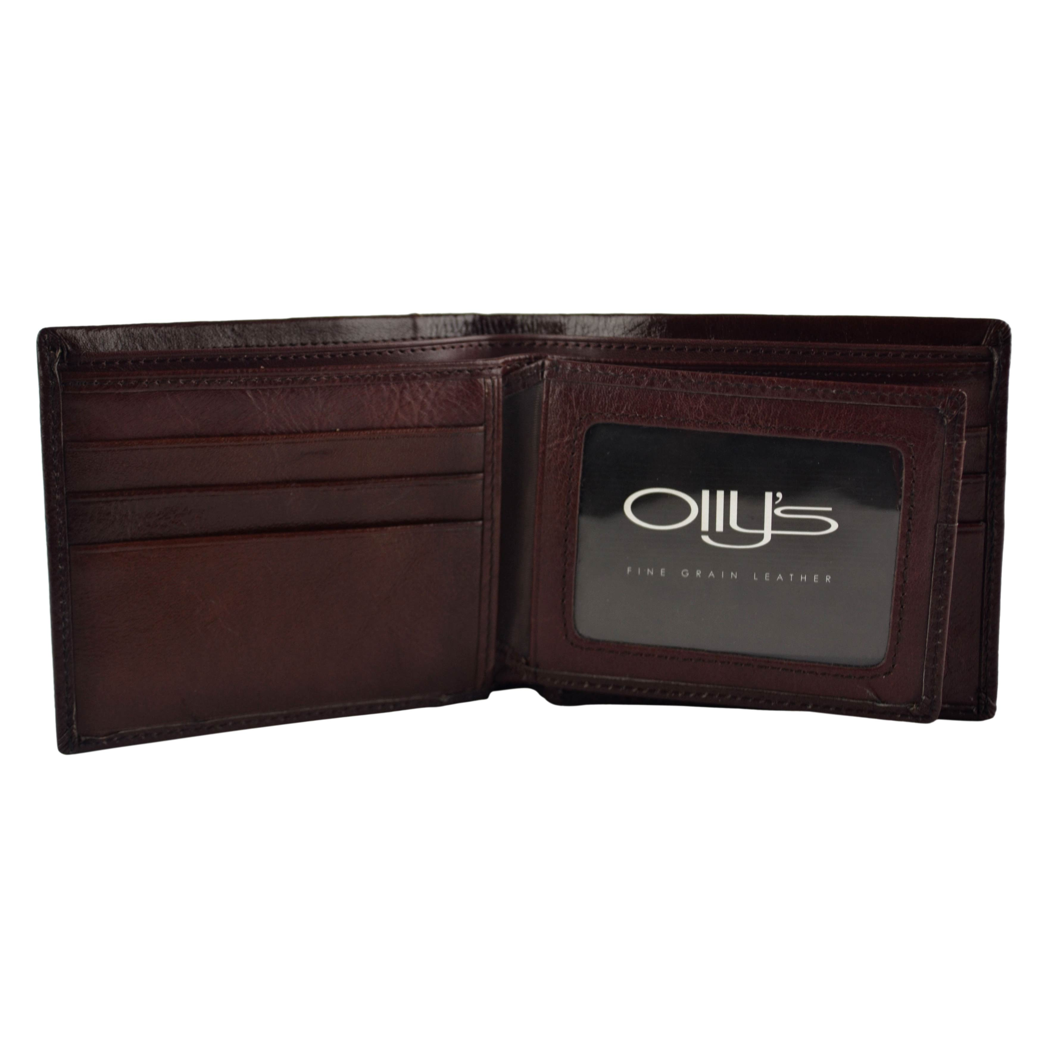 thumbnail 14 - Mens-Fine-Grain-Classic-Leather-Wallet-by-Olly-039-s-Wilson-Collection-Gift-Box
