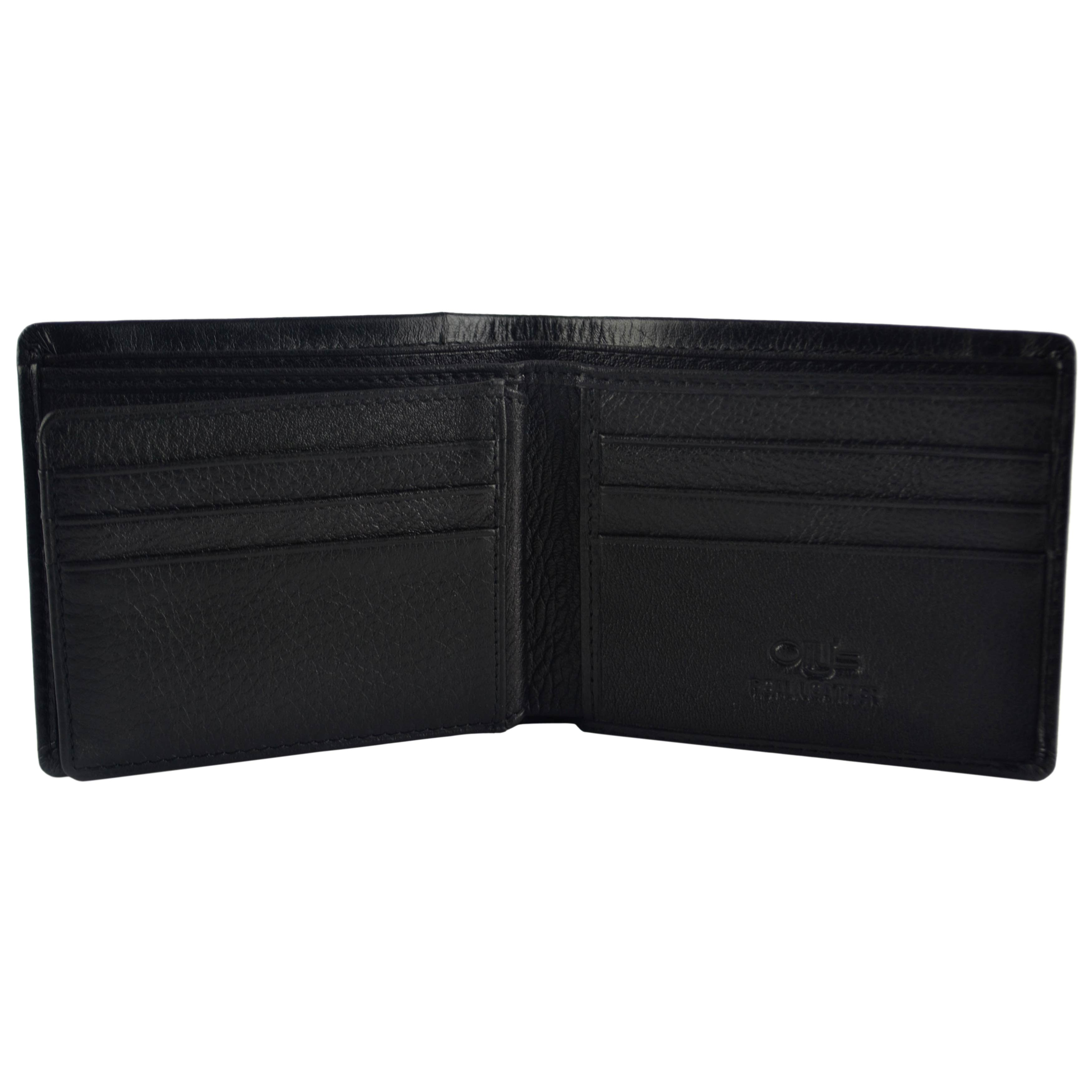 thumbnail 5 - Mens-Fine-Grain-Classic-Leather-Wallet-by-Olly-039-s-Wilson-Collection-Gift-Box