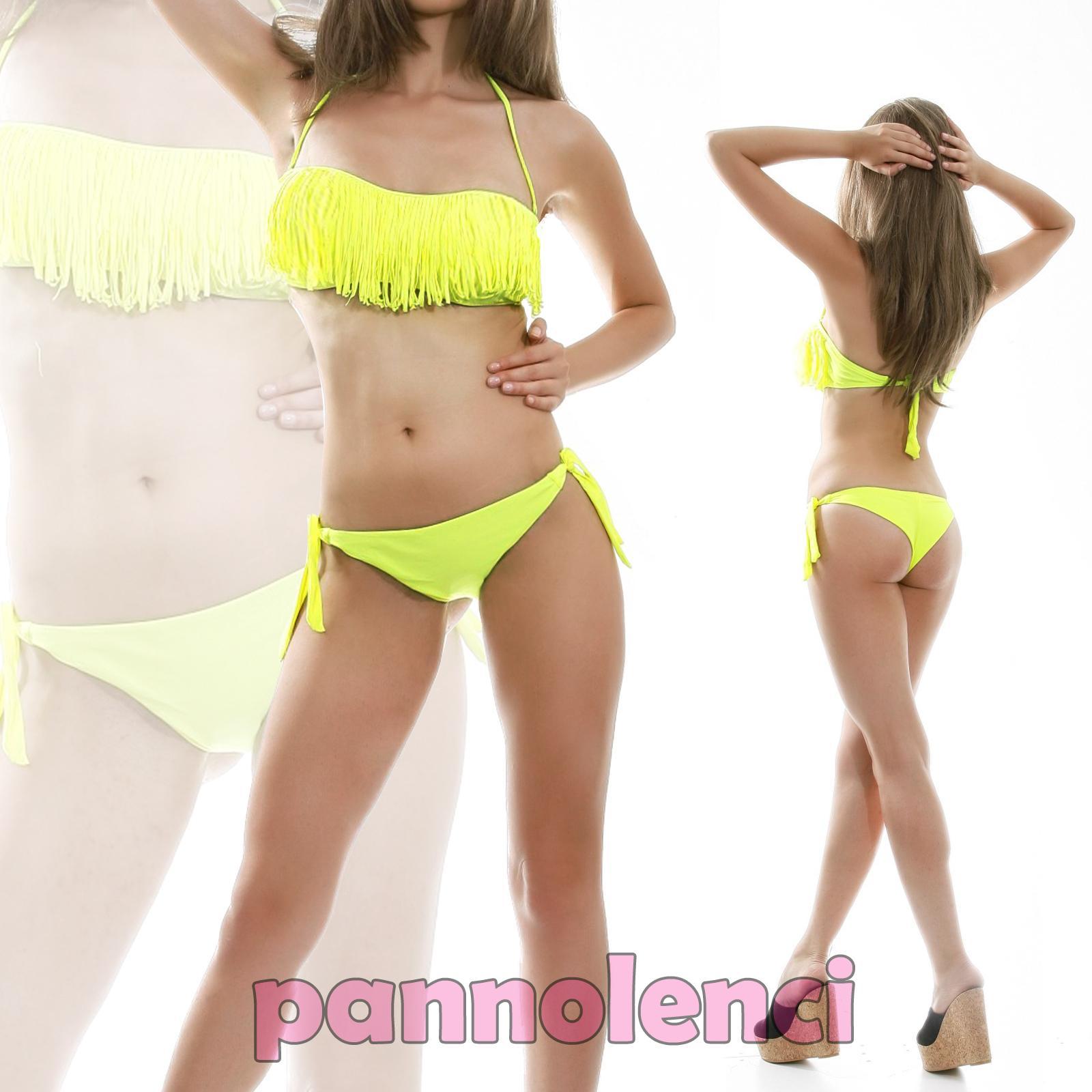 Bikini traje de ba o banda flecos dos piezas moda de ba o - Piezas de bano ...